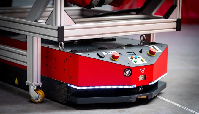 Versabot Vehicle Robot Automated Guided Vehicle for Material Handling