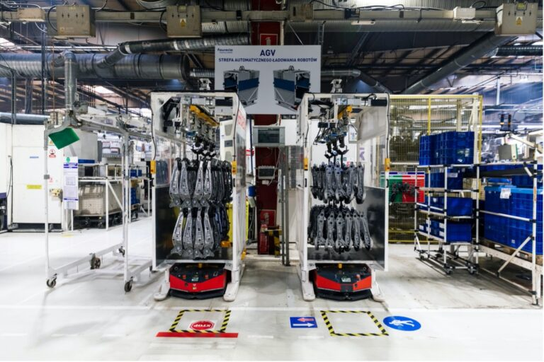 Smart factory. Modern factory on the example of VERSABOT implementation in Faurecia Frames